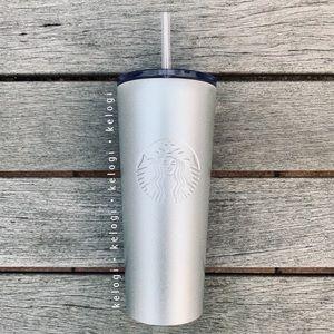 New Starbucks Venti Silver Sparkle Cup